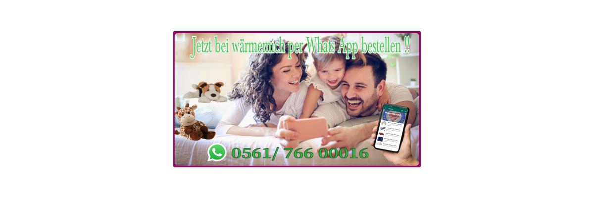 Du möchtest Warmies ,Habibi Plush oder welliebellies per Whats App bestellen ? Kein Problem bei waermemich jetzt möglich - Wärmetiere und Slippies per Whats App bestellen