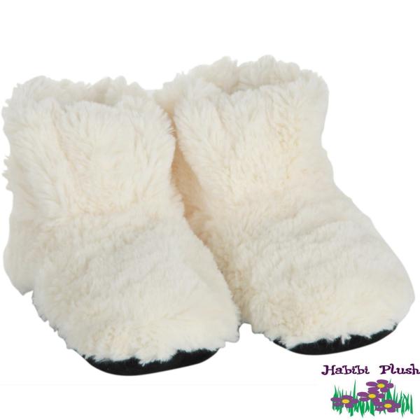 - Habibi Plush: Boots Creme mit Massagesohle -