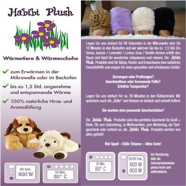 Habibi Plush : Schal Creme mit Klettverschluss