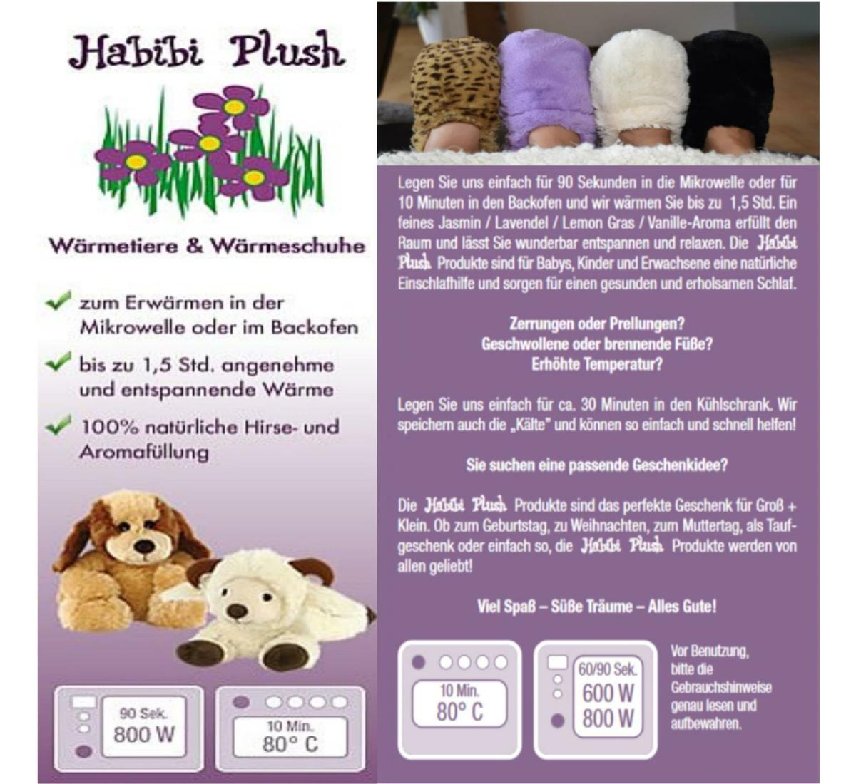 Habibi Plush : Hund Puppy mit Klettverschluss
