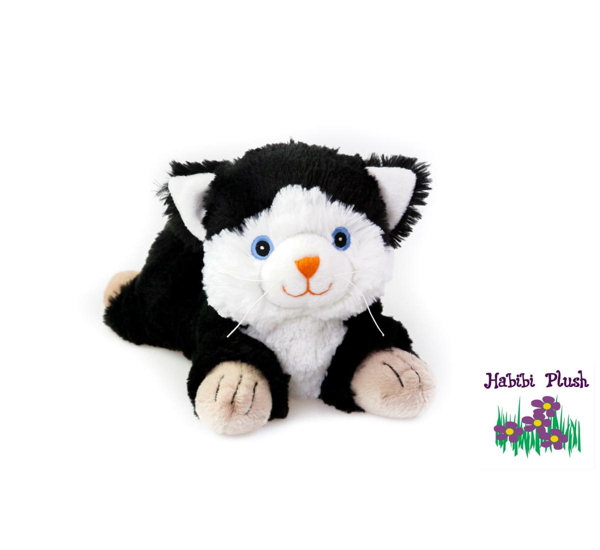 - Habibi Plush : Katze Schwarz/Weiß  -