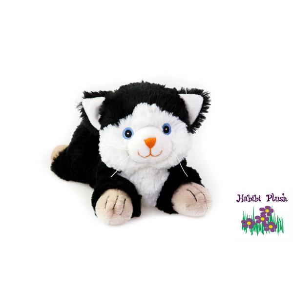 Habibi Plush : Katze Schwarz/Weiß