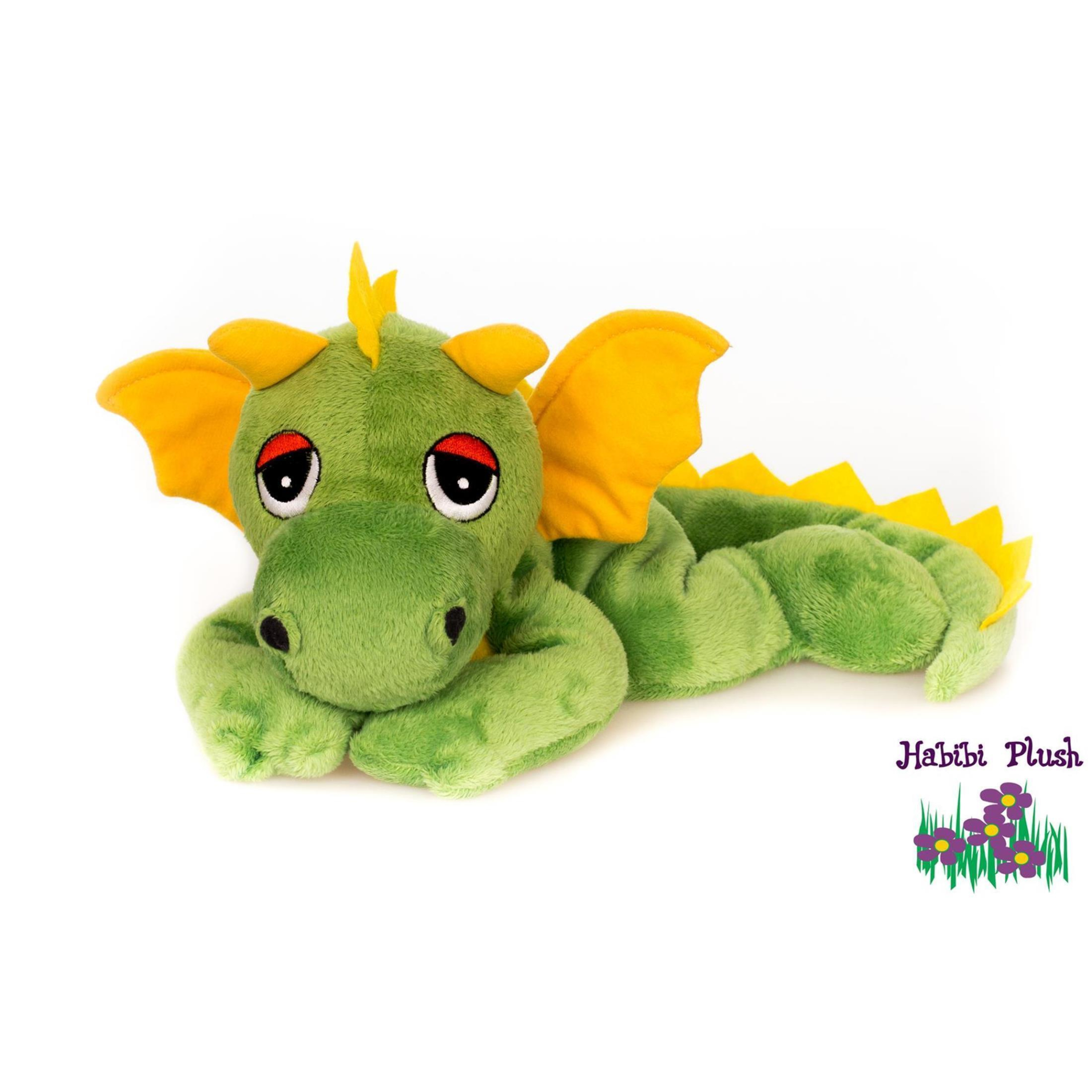 Habibi Plush : Glücksdrache Grün/ Gelb