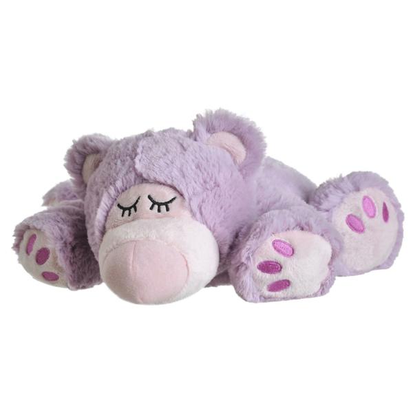 - Warmies : Sleepy Bear Lila mit herausnehmbarer Füllung
