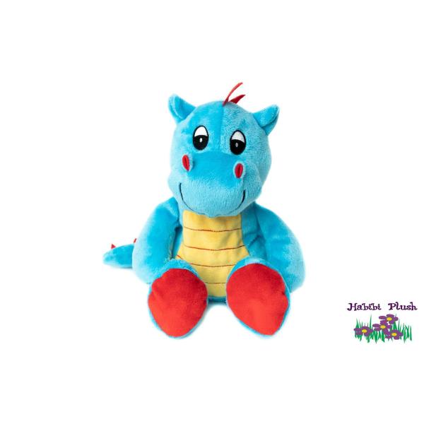 - Habibi Plush : - Drachenbaby Hellblau, mit Klettverschluss  -